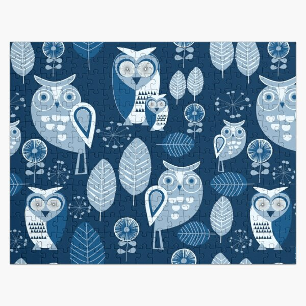 Owls Party Blue Puzzle