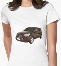 new black 4x4 suv isolated Women's Fitted T-Shirt