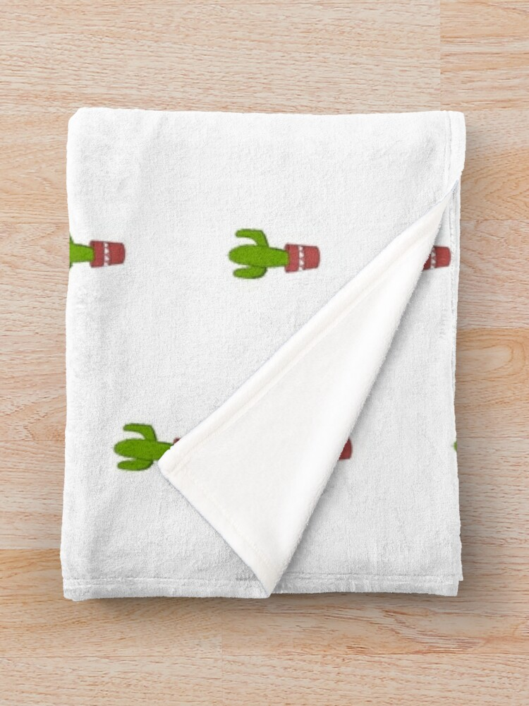 Alternate view of Cacti Collection Throw Blanket