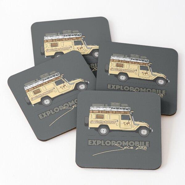 Exploromobile Coasters (Set of 4)