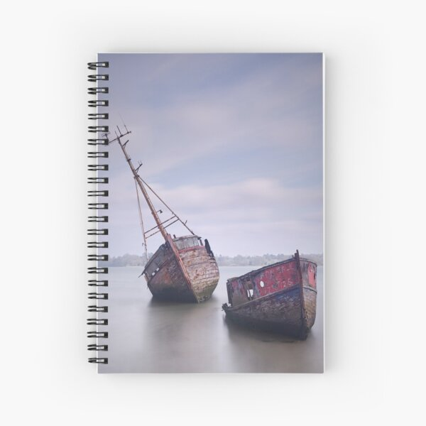 Boat Wrecks Sinking into Obscurity Spiral Notebook