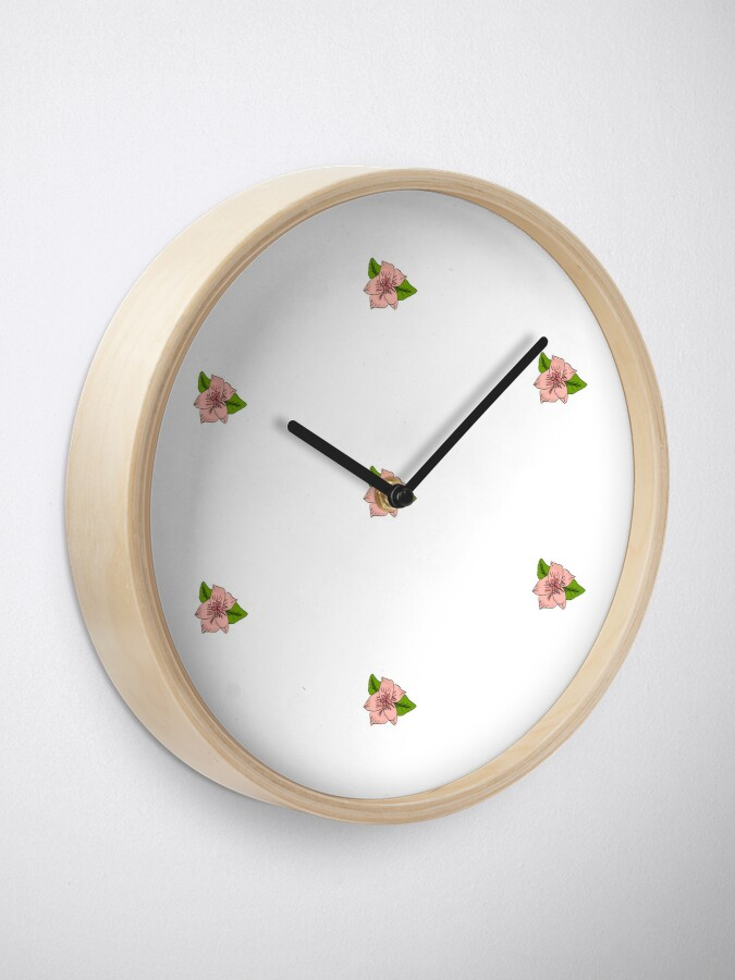 Alternate view of Cherry Blossom Collection Clock