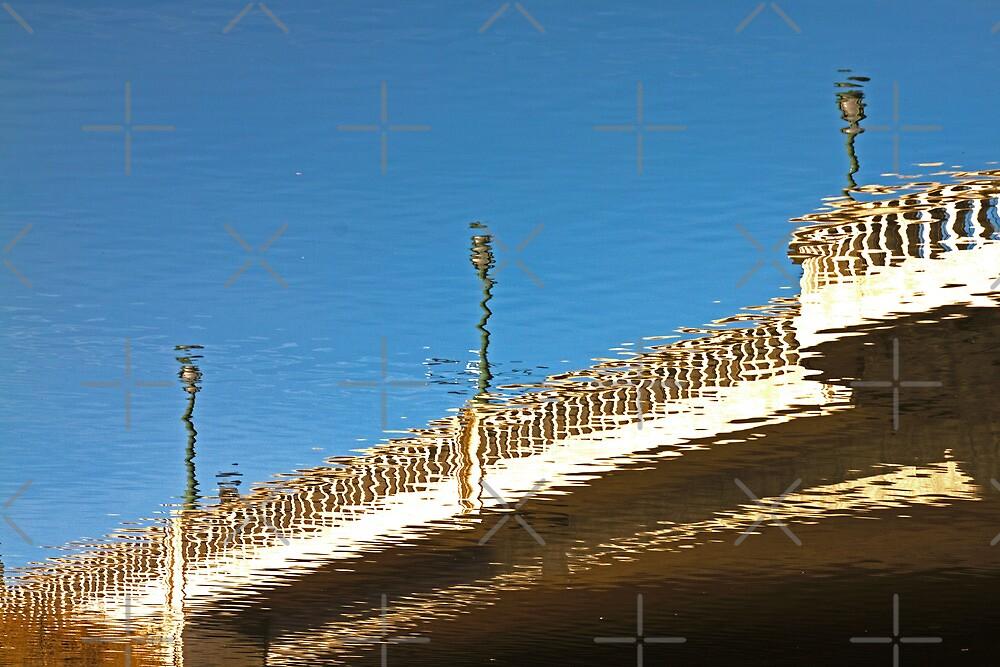 Reflection of a Bridge in Napa, California by Buckwhite