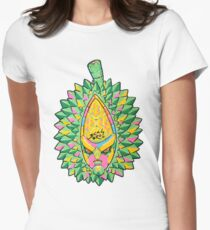 Fruity Hero // Durian Major Women's Fitted T-Shirt