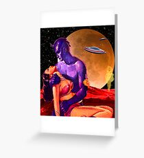 Space Love Greeting Card