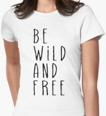 Wild and Free Women's Fitted T-Shirt