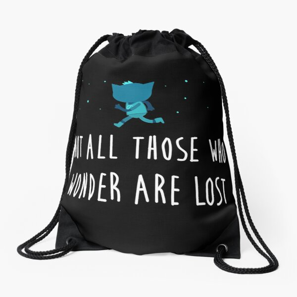 Not all those who wonder are lost- Adventure-Sunset- Black Drawstring Bag