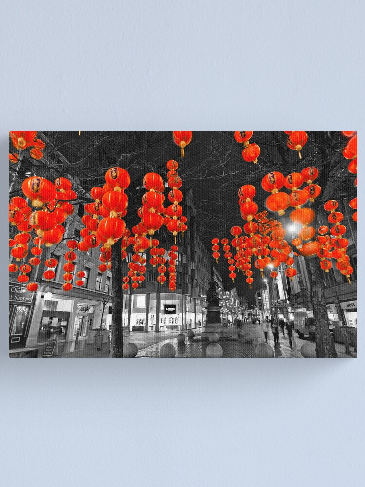 Alternate view of Chinese Lanterns (Selective colour) Canvas Print