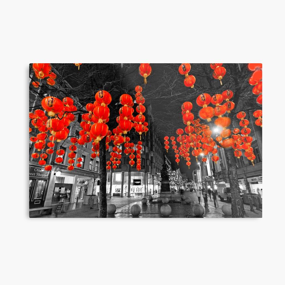 Chinese Lanterns (Selective colour) Metal Print