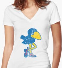 Vintage Jayhawk Women's Fitted V-Neck T-Shirt