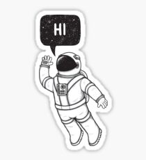 Greetings from space Sticker