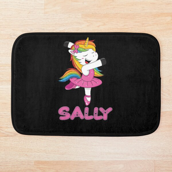 Sally Pink  Sally The Dancing Unicorn - Special Personalised Gift For Sally Bath Mat
