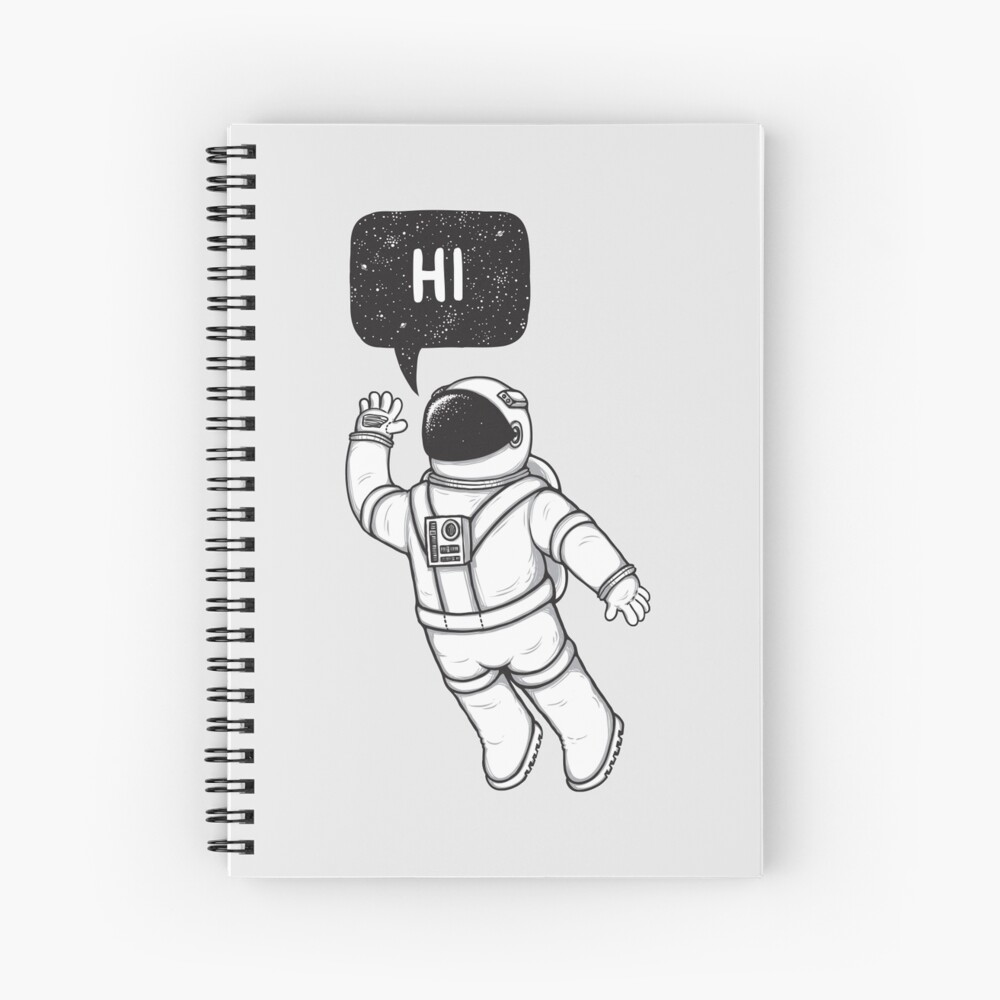 Greetings from space Spiral Notebook