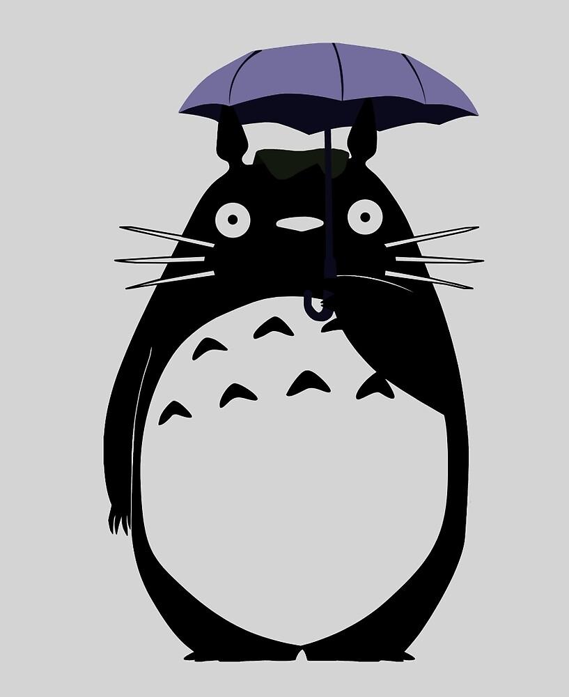 Totoro on a rainy day by iamzangetsu87