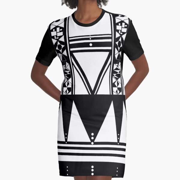African Xhosa Wedding Attire | Traditional Umbhaco Graphic T-Shirt Dress
