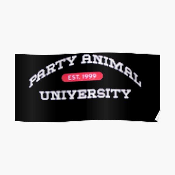 Merch de animales de fiesta de Bryce Hall Póster