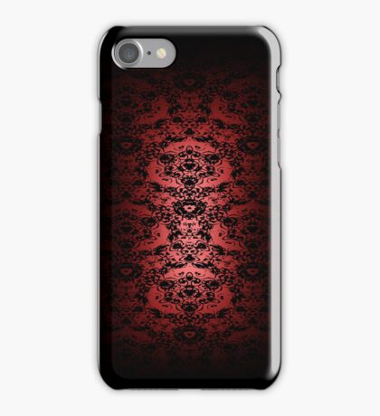 Regal Red Lace iPhone Case iPhone Case/Skin