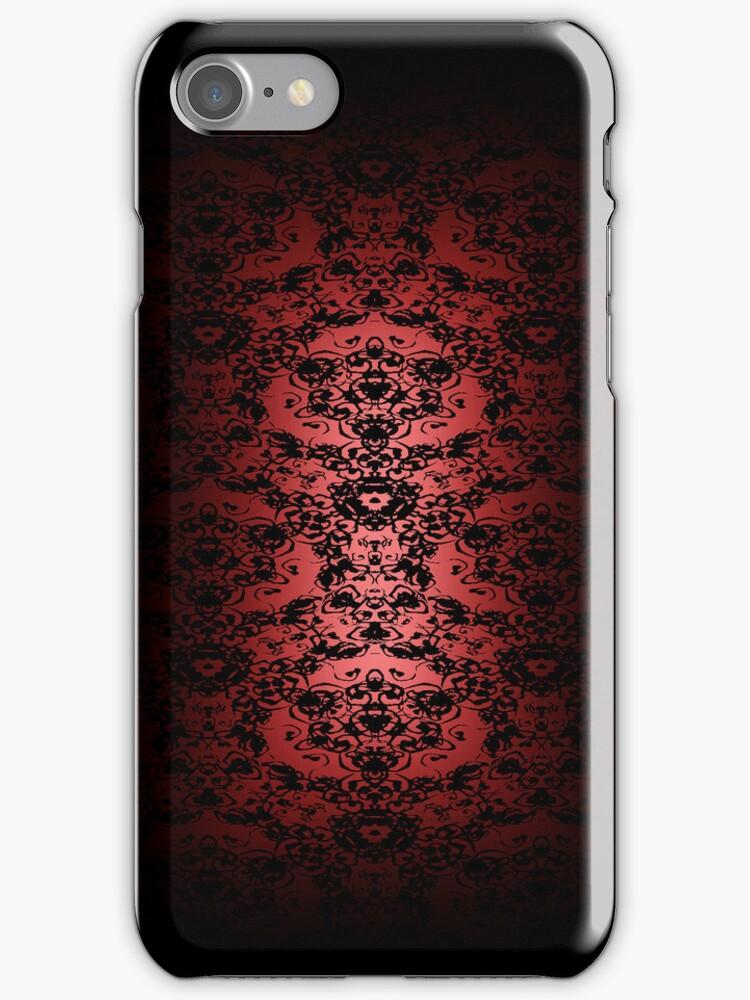 Regal Red Lace iPhone Case by Ra12