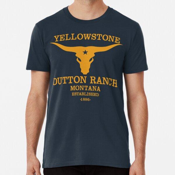 Conception de vêtements YellowStone Skull Bull Dutton Ranch T-shirt premium