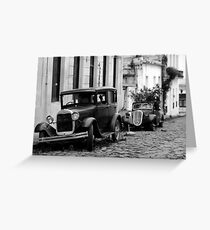 Vintage Cars in Uruguay Greeting Card