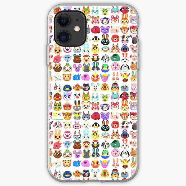 Villagers Pattern iPhone Soft Case