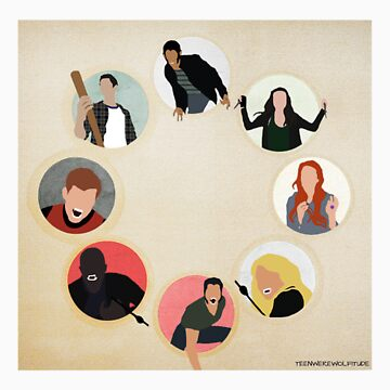 Teen Wolf Pack Graphic (Square) by twerewolfitude