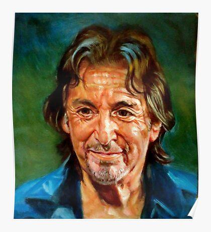portrait of Al Pacino Poster