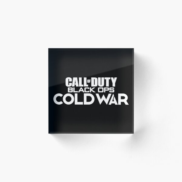 Call of Duty: Black Ops Cold War Logo (white) Acrylic Block