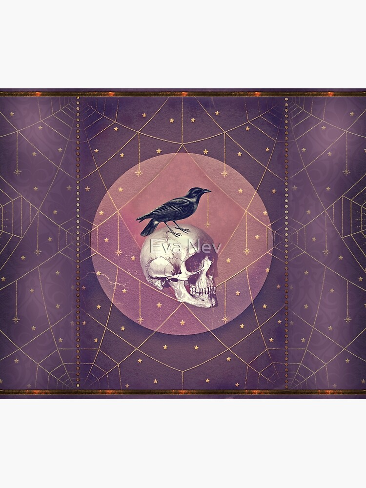 Crow and Skull Collage by 3vaN