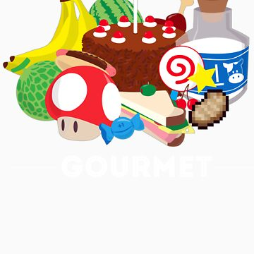 Gourmet - Video Game Food Tee by LM09