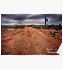 Country Road from Outback Australia Poster