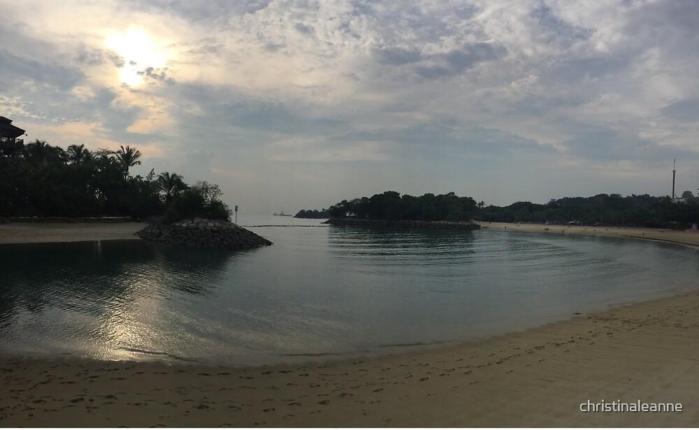 Sentosa Island beach  by christinaleanne