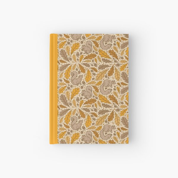 Oak & Squirrels | Animal Nature Pattern Hardcover Journal