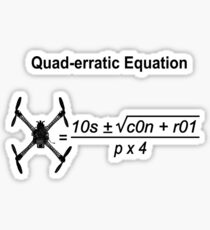 Quad-erratic Equation Sticker