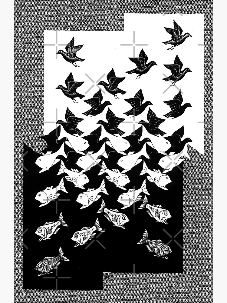 Maurits Cornelis Escher - Sky and Water 2 by Pikokk