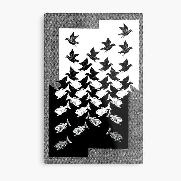 Maurits Cornelis Escher - Sky and Water 2 Metal Print