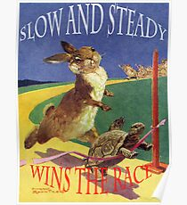 The hare and the tortoise. Poster