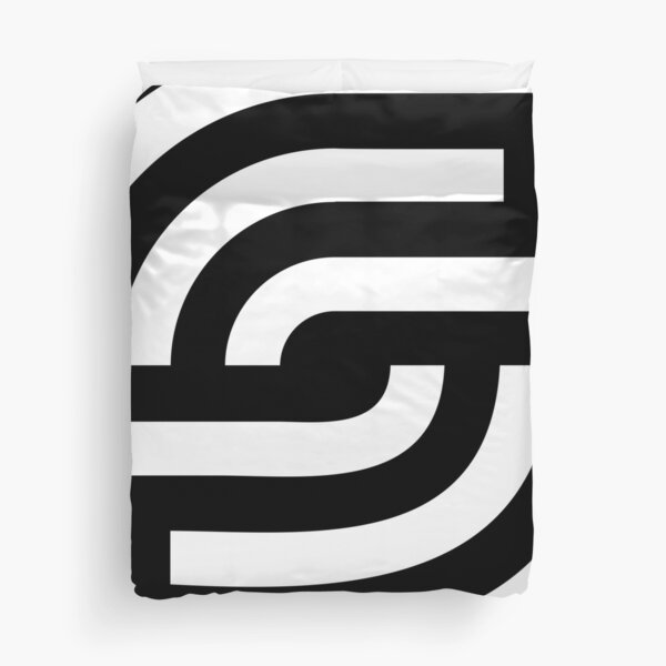Abstract graphic white modern  Duvet Cover
