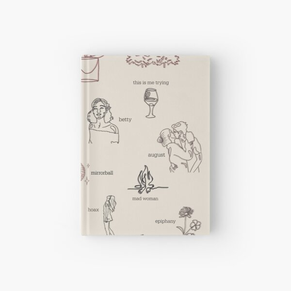 Taylor Swift Folklore Album Collection (Line art) Hardcover Journal
