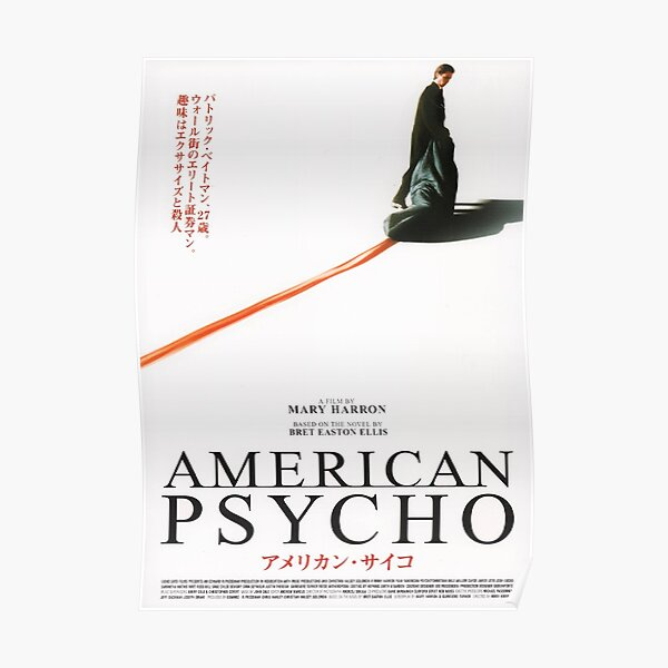 American Psycho Japanese Film Poster Poster