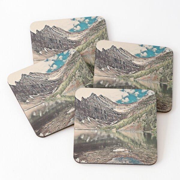 Lake Agnes- Banff National Park, Canada Coasters (Set of 4)