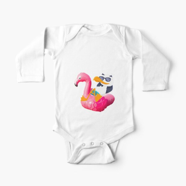 Roblox Baby Duck Flee The Facility Flamingo Roblox Long Sleeve Baby One Piece Redbubble