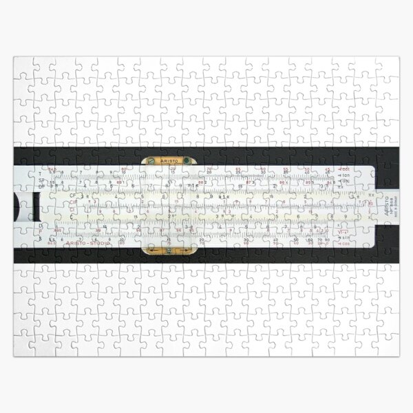 Slide rule, #slipstick, mechanical analog #computer, graphical analog #calculators, #nomograms, general calculations, application specific computations Jigsaw Puzzle