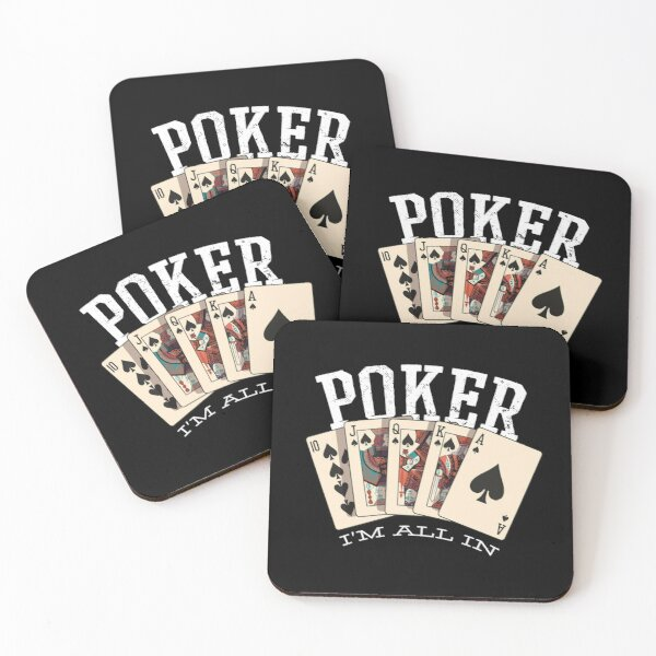 Poker I`m All In Casino Gift Design Coasters (Set of 4)