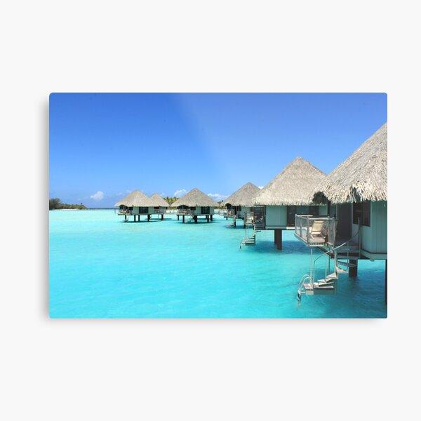 Overwater Bungalows - Le Meriden - Bora Bora Metal Print