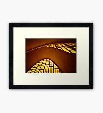 Curved concrete, Reims, Marne, France Framed Print