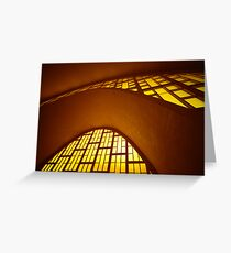 Curved concrete, Reims, Marne, France Greeting Card