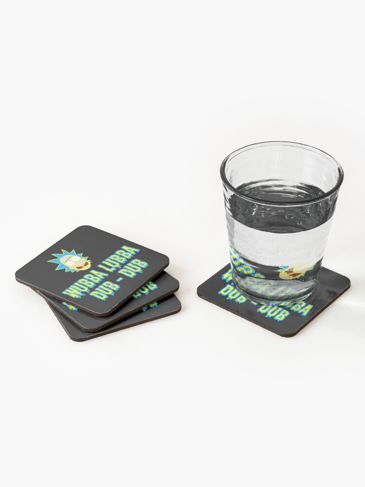 Alternate view of Wubba Lubba Dub Dub - Ricky And Morty Coasters (Set of 4)