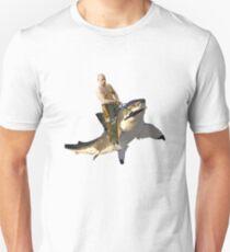 Putin riding a shark Unisex T-Shirt