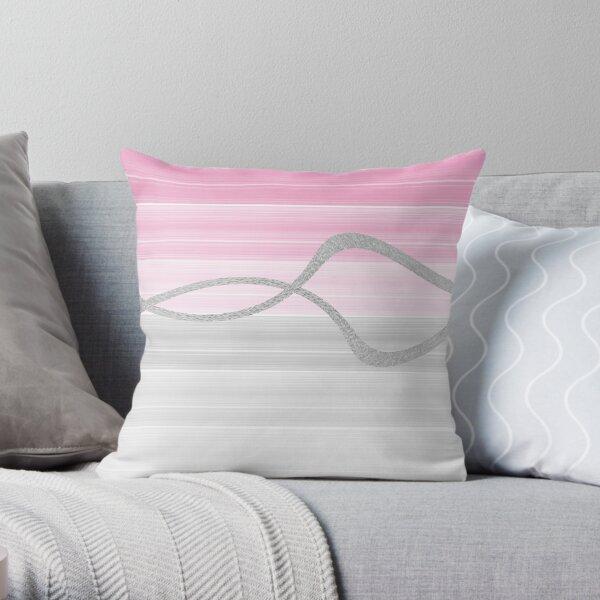 Watercolour Stripe Series 4 Throw Pillow